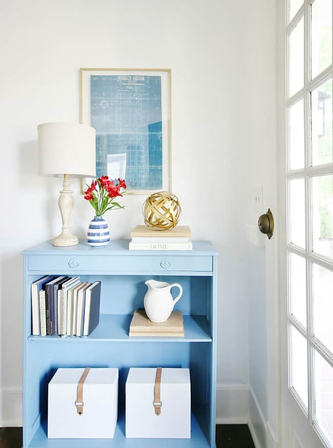 simple summer decorating ideas bookcase