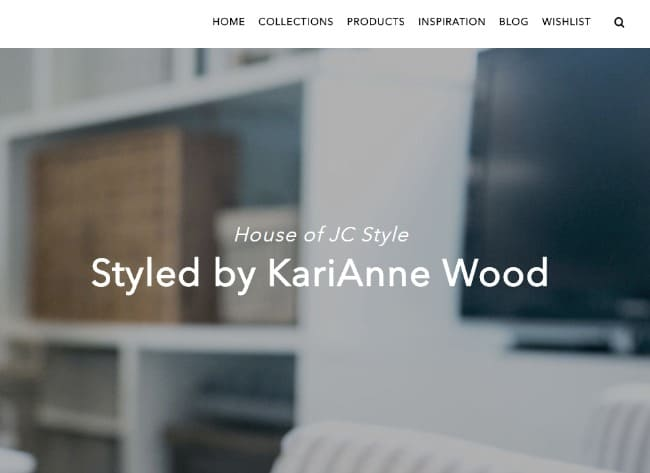 Styled by KariAnne Wood feature on the Jeffrey Court website