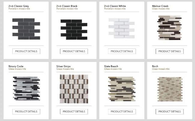 Jeffrey Court tiles for backsplashes, bathrooms, kitchens, or tile floors