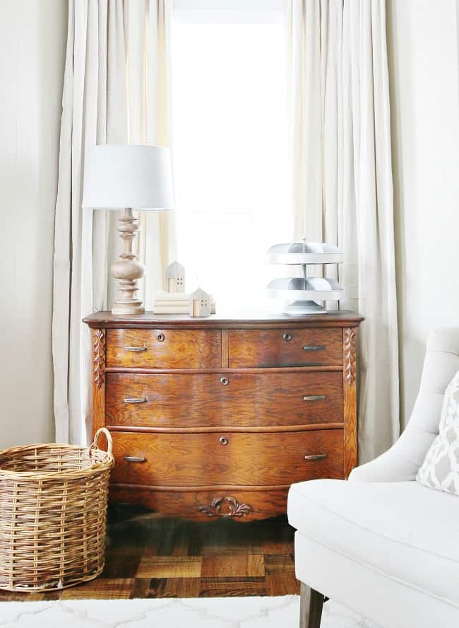 decorating with lamps wood dresser and lamp