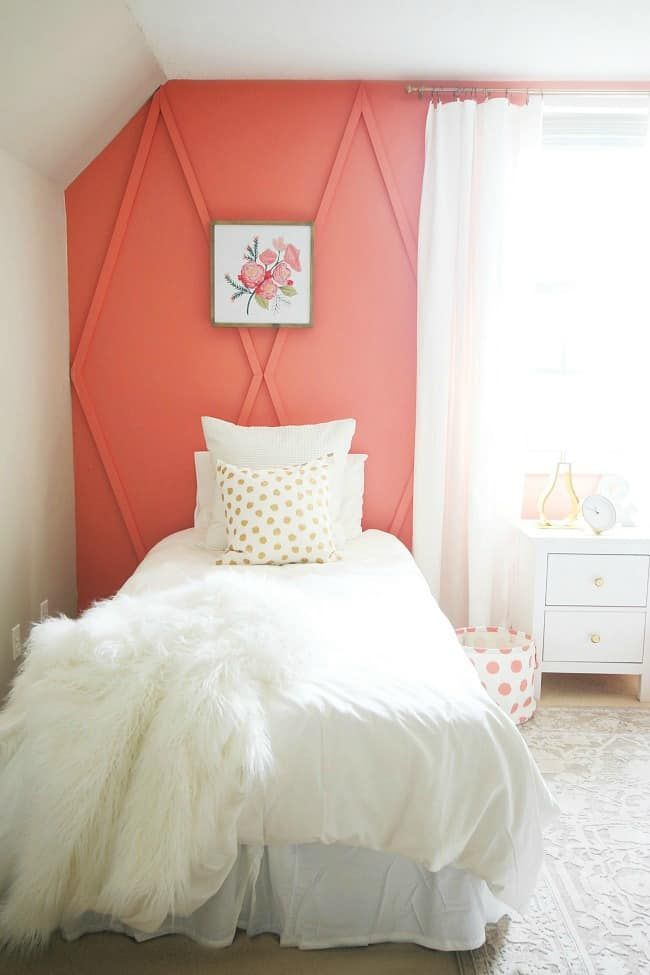 wood coral accent walls project