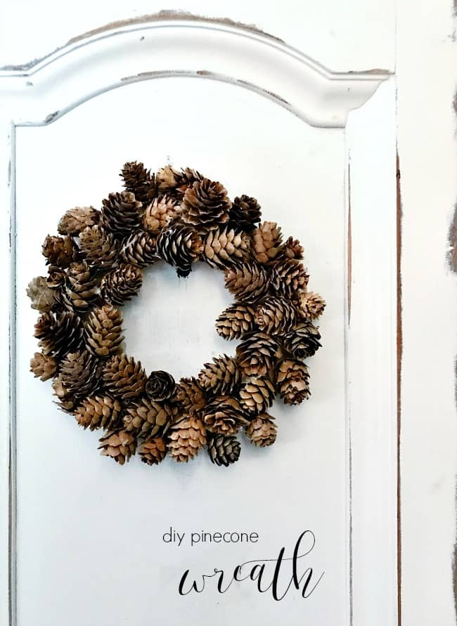 Diy Pinecone Wreath And Little Moments Like That Thistlewood Farm