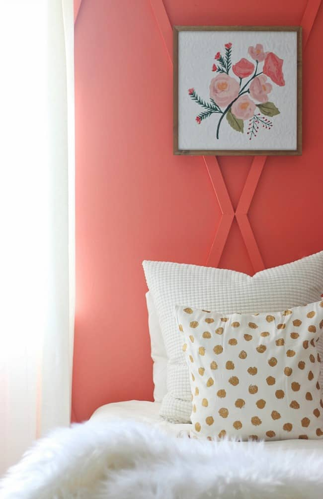Diy Coral Bedroom Accent Wall Before And After Thistlewood Farm
