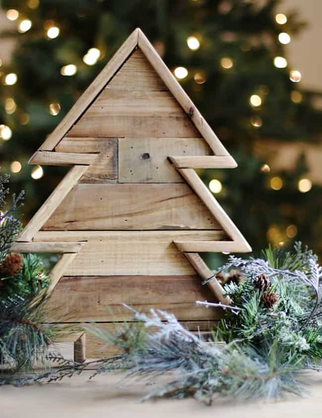 Handmade Christmas Diy Wood Christmas Tree Thistlewood Farm