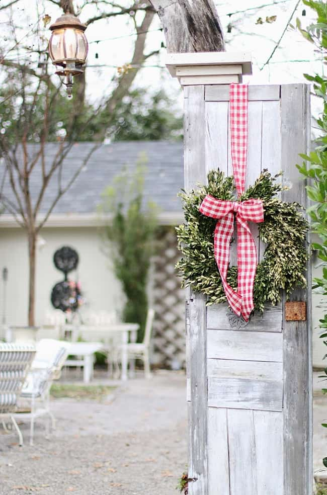 Christmas cottage wreath