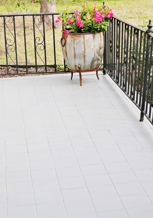painted brick steps after photo