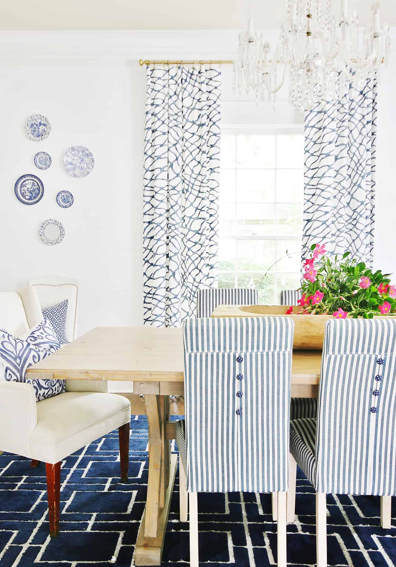How To Cover A Button With Fabric And Make Your Dining Chairs So Much Cuter Thistlewood Farm