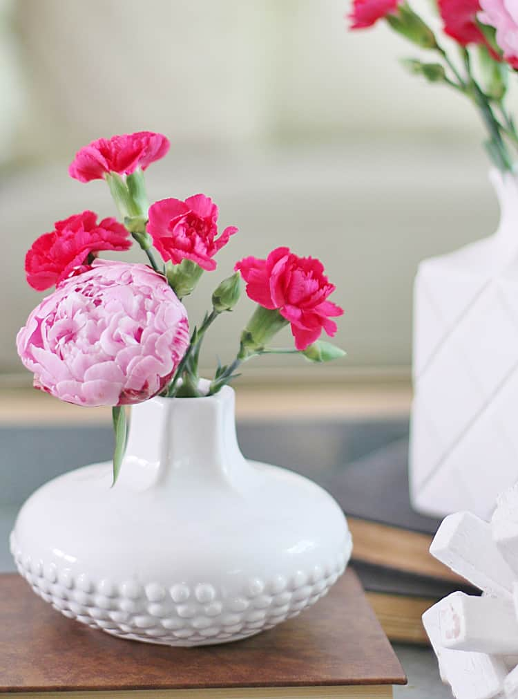 peonies and carnations summer decorating ideas for the living room