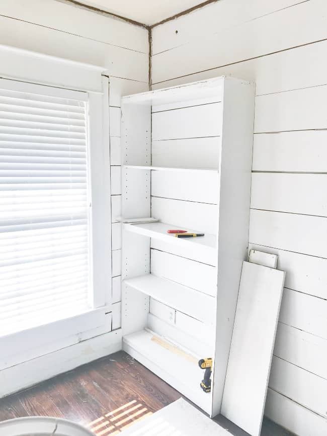 bookcase into a built in