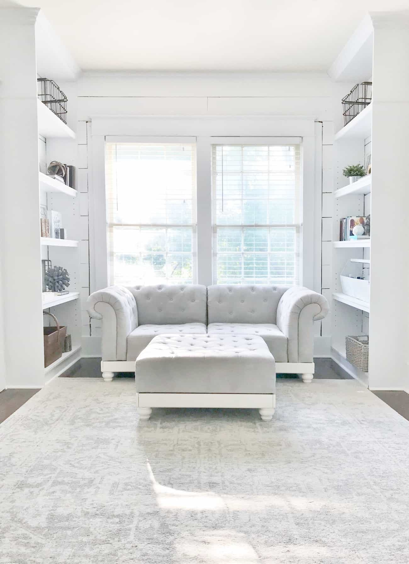 bookcase into a built in after
