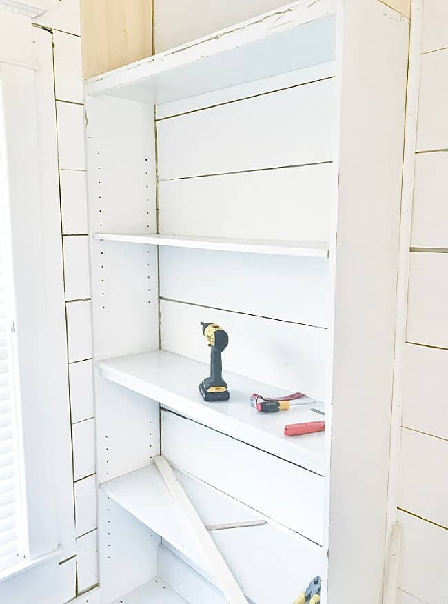 bookcases into built-ins project