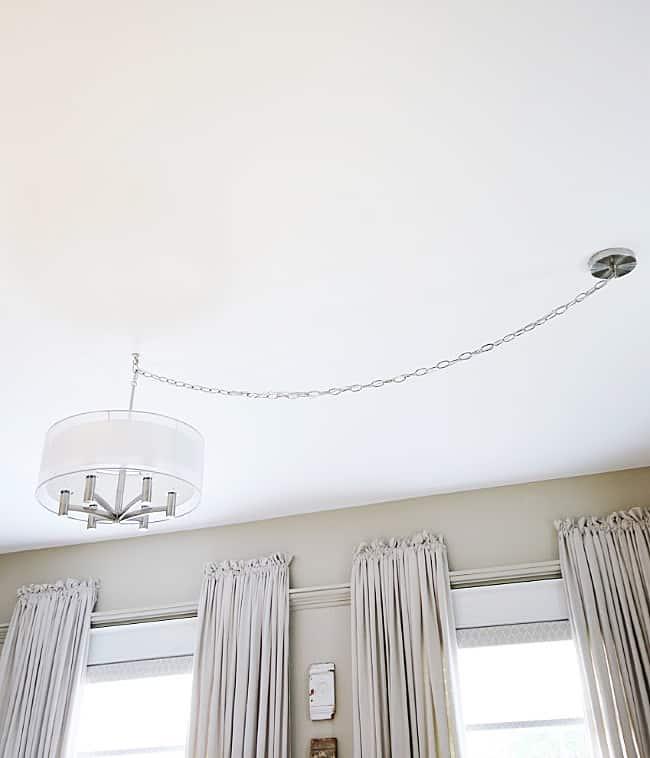 Off Center Ceiling Light Solution, Light Fixture Ceiling Cover