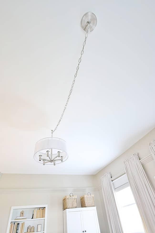 off center ceiling light