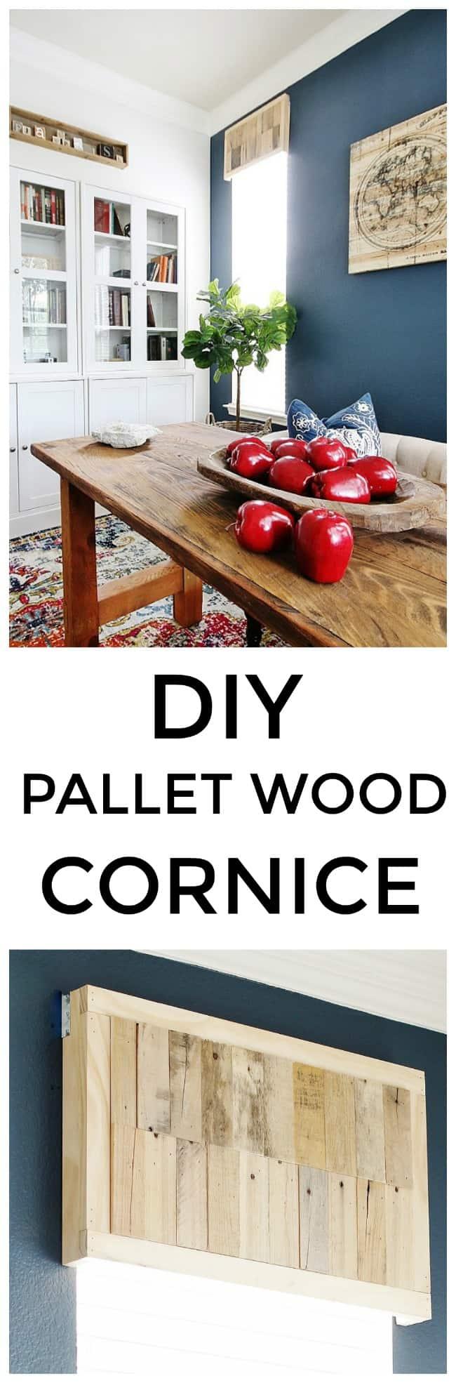 Diy Pallet Wood Cornice Board Thistlewood Farm