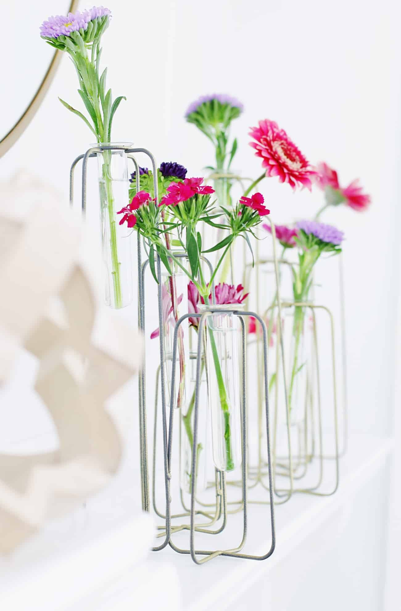 fresh flowers in vases