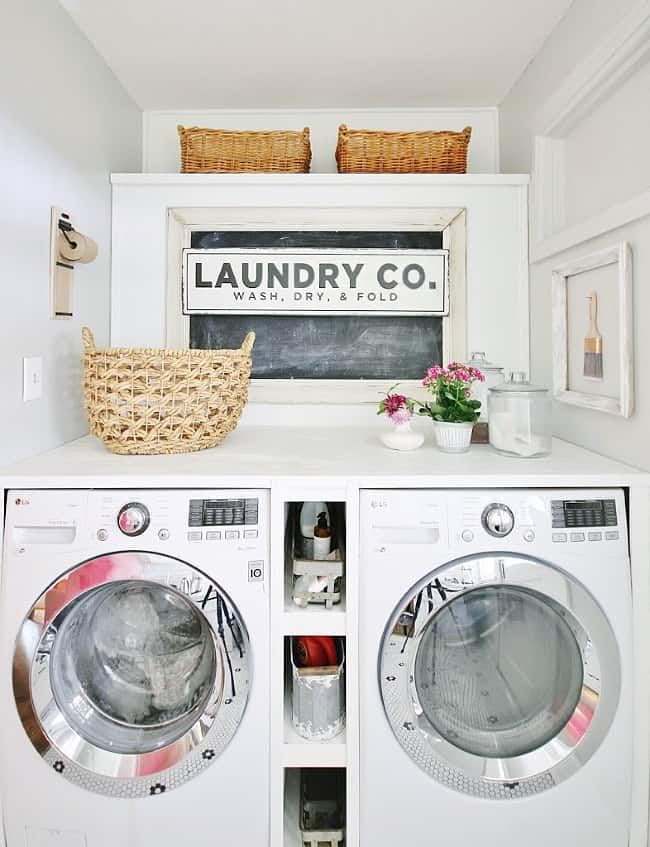 how to decorate your walls in your laundry room