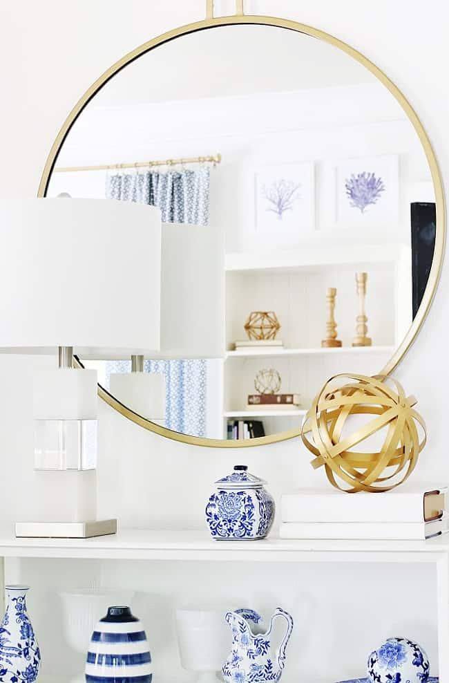 simple summer decorating idea mirror