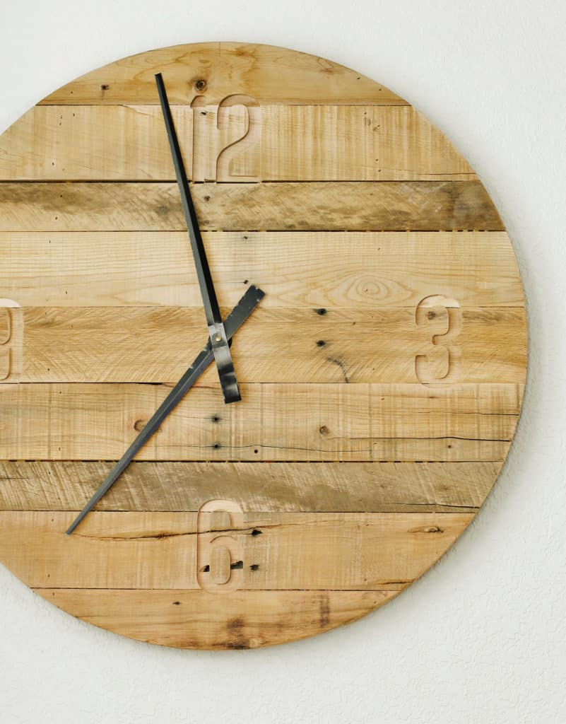 How To Make A Pallet Wood Clock Thistlewood Farm