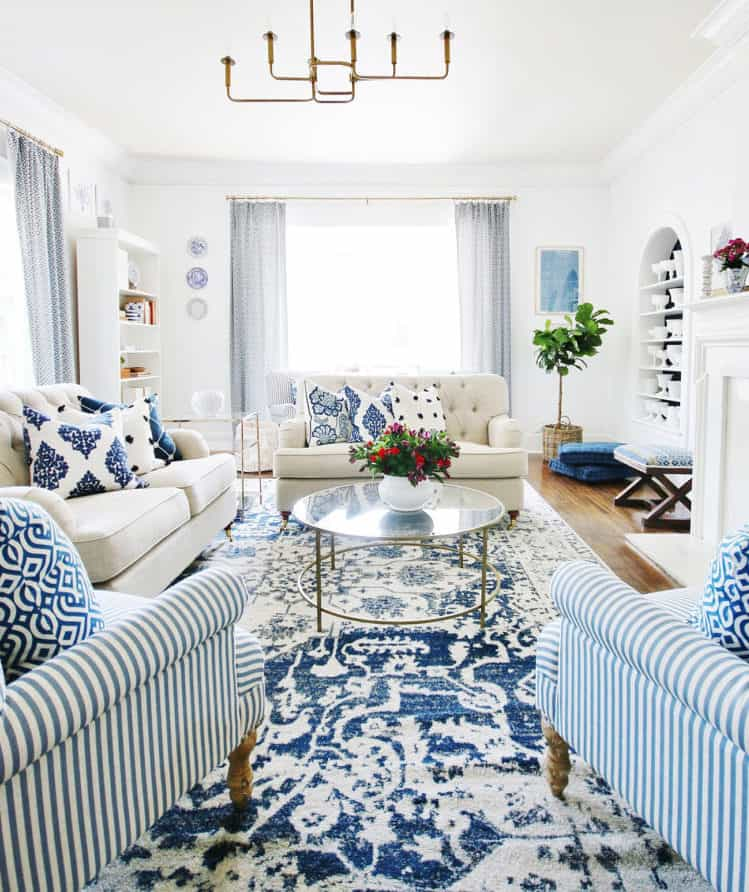 ideas for art blue and white
