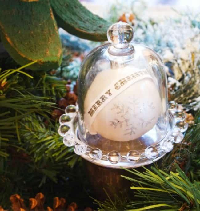 cloche Christmas decorating ideas