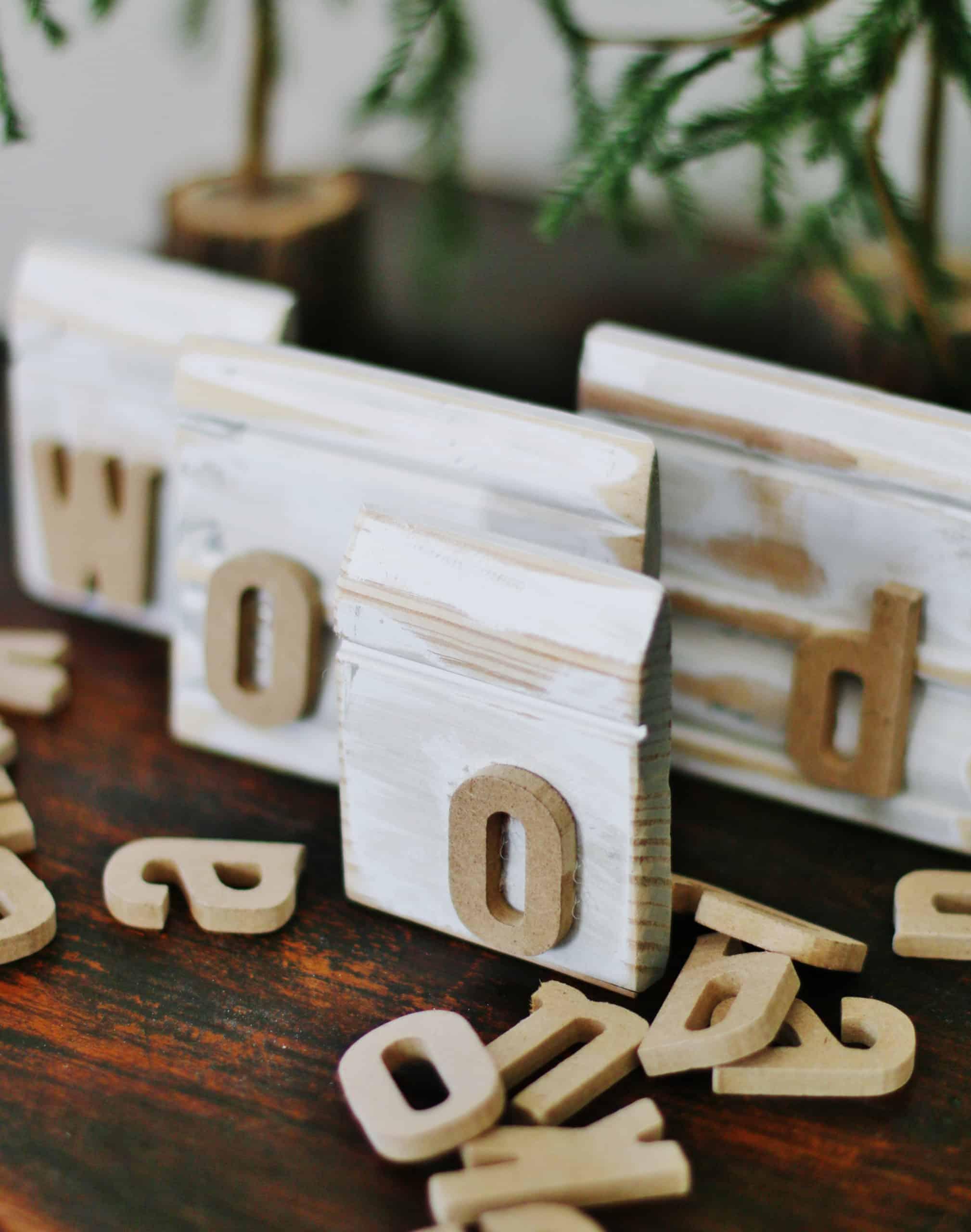 wood name blocks