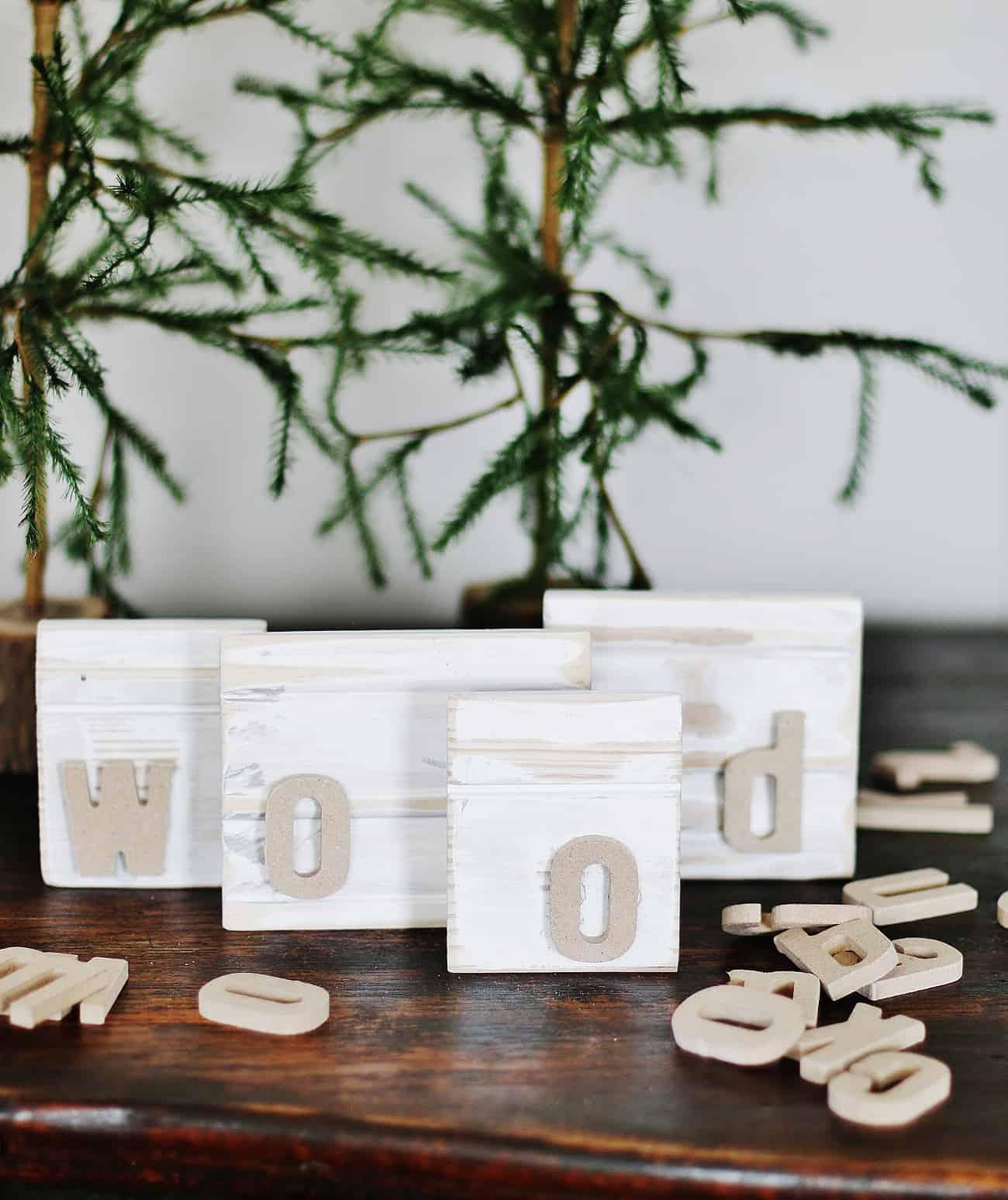 wood name blocks