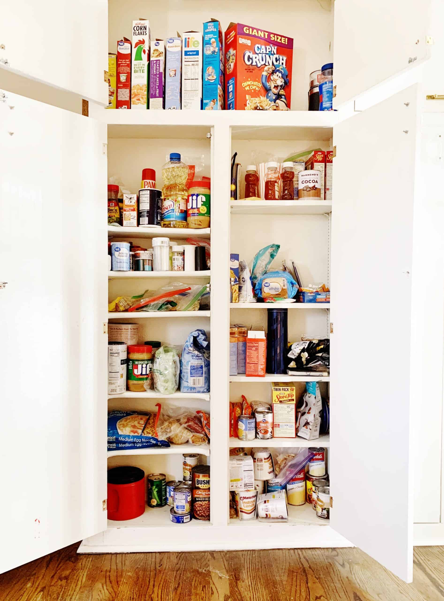 how to organize a pantry cabinet before