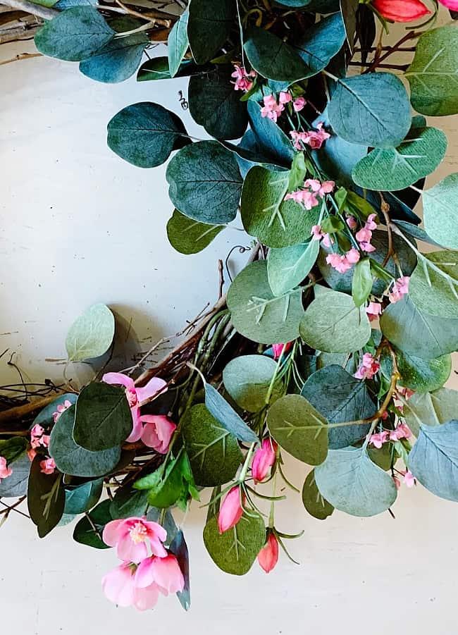 DIY spring wreath flowers
