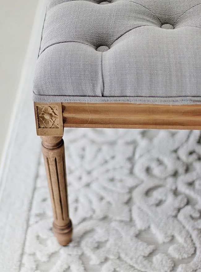 before and after bedroom bench