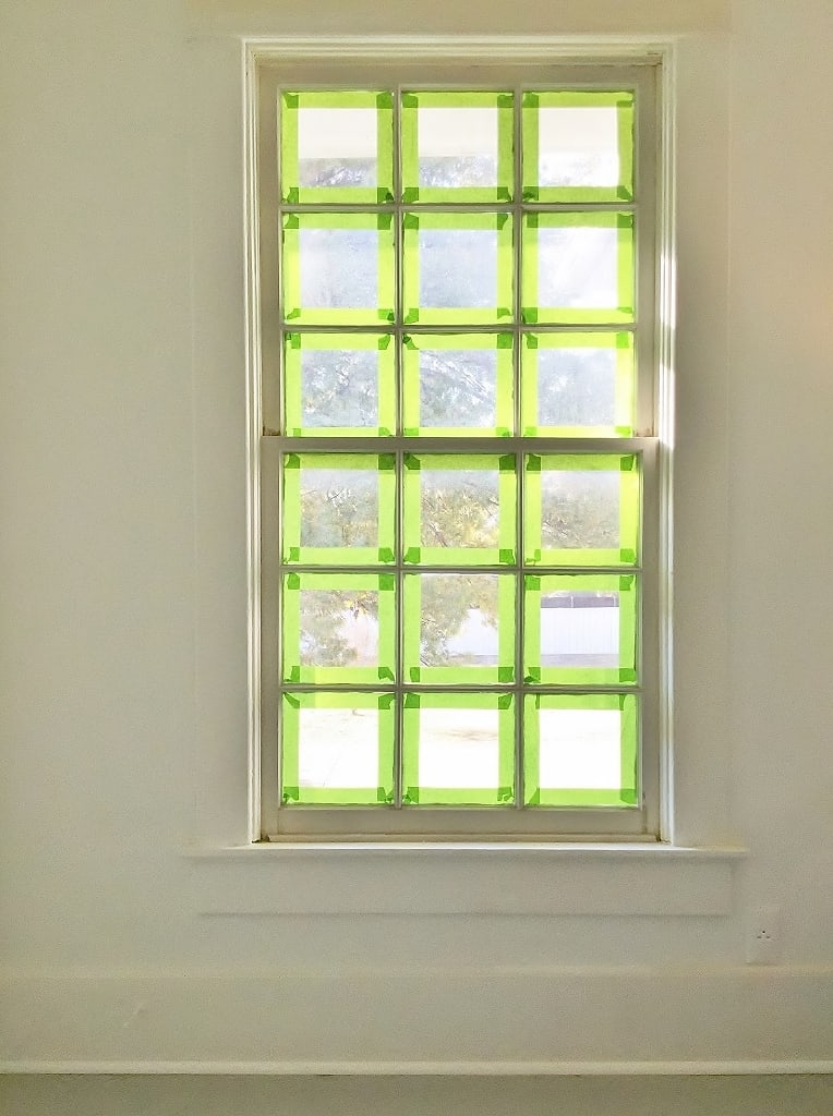 how to paint a window painters tape