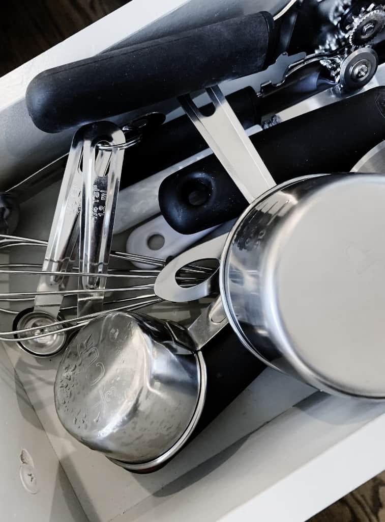 simple kitchen organization storage idea