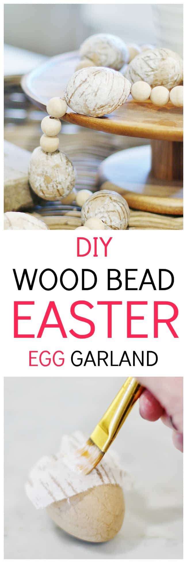 Easter Diy Crafts Wood Bead Egg Garland And A Video Thistlewood Farm