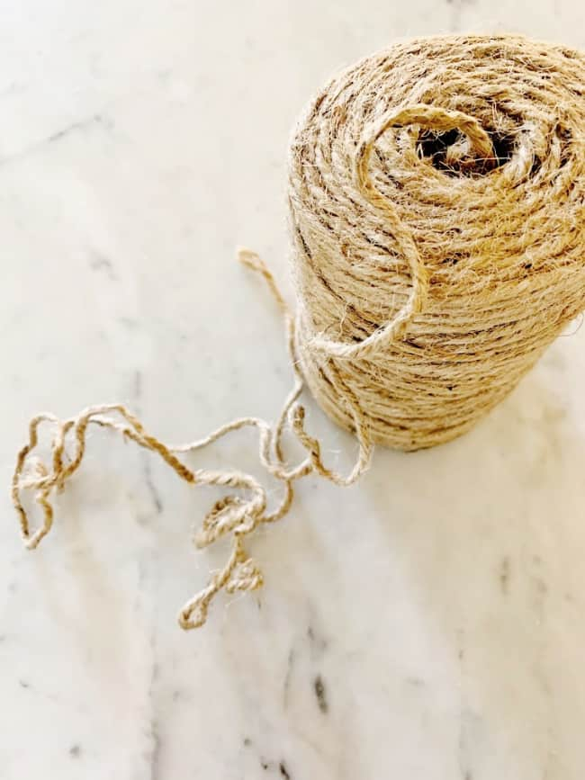 DIY wood bead garland jute twine