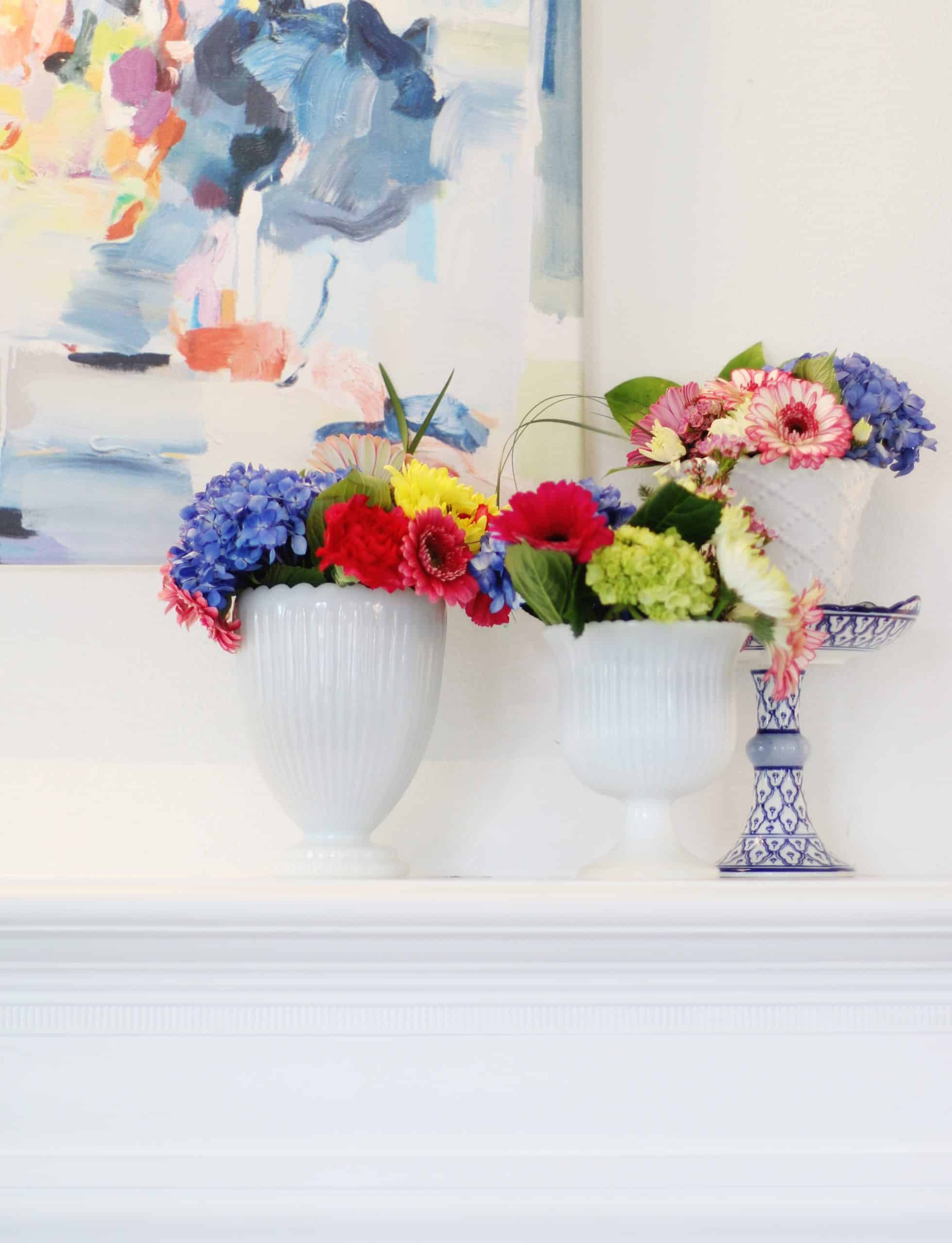 decorating ideas for spring mantel