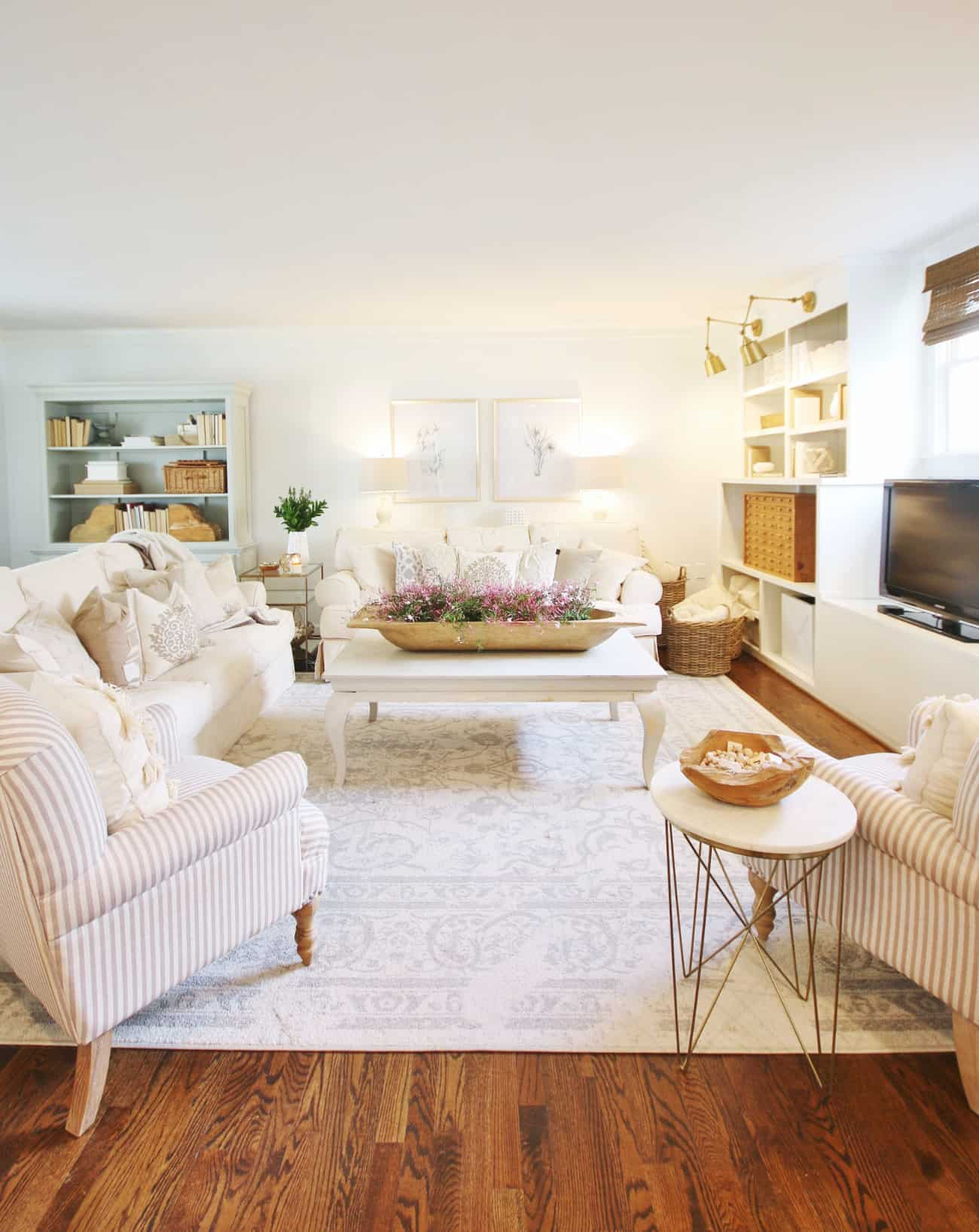 spring home tour family room