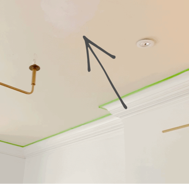 how to paint a ceiling before