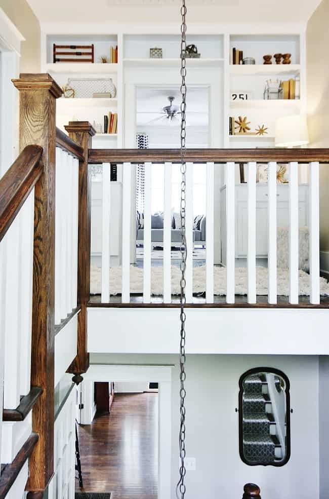 before and after room makeover staircase