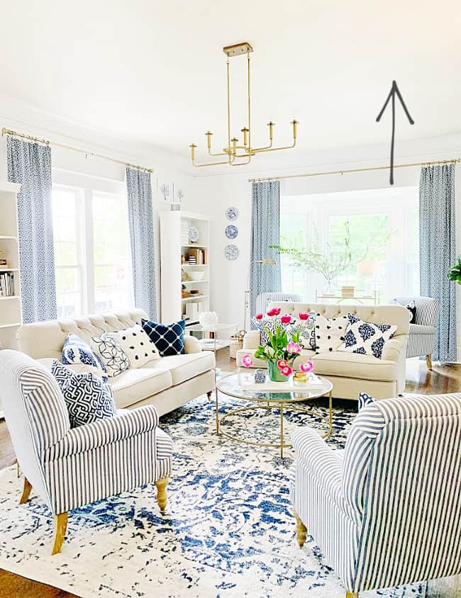 how to paint a ceiling living room