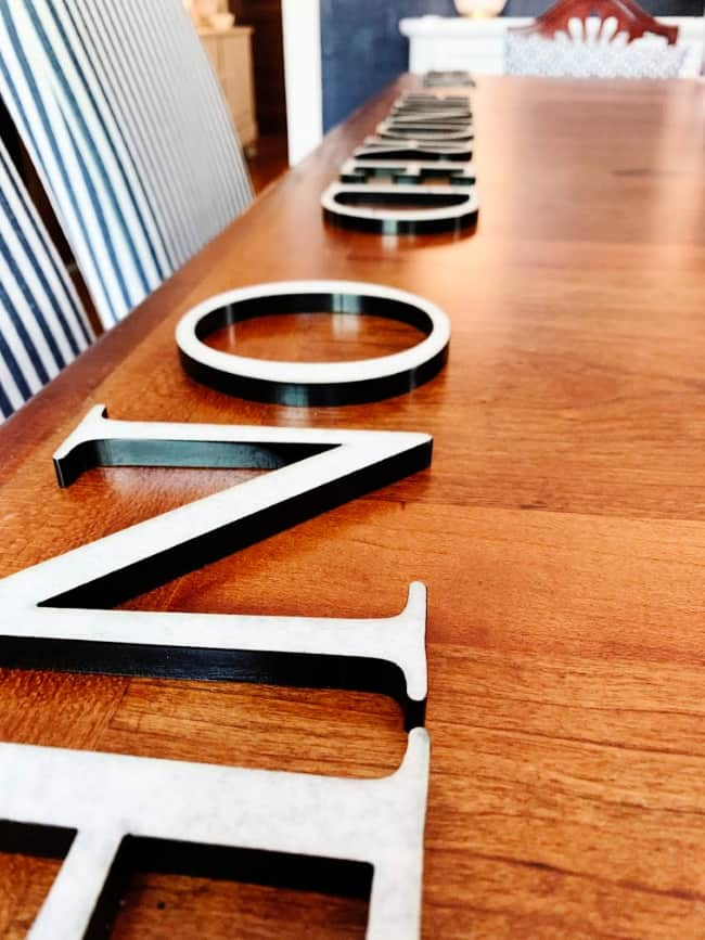 outdoor project house letters