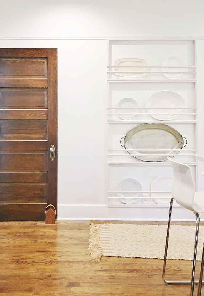 kitchen project DIY plate rack simple idea