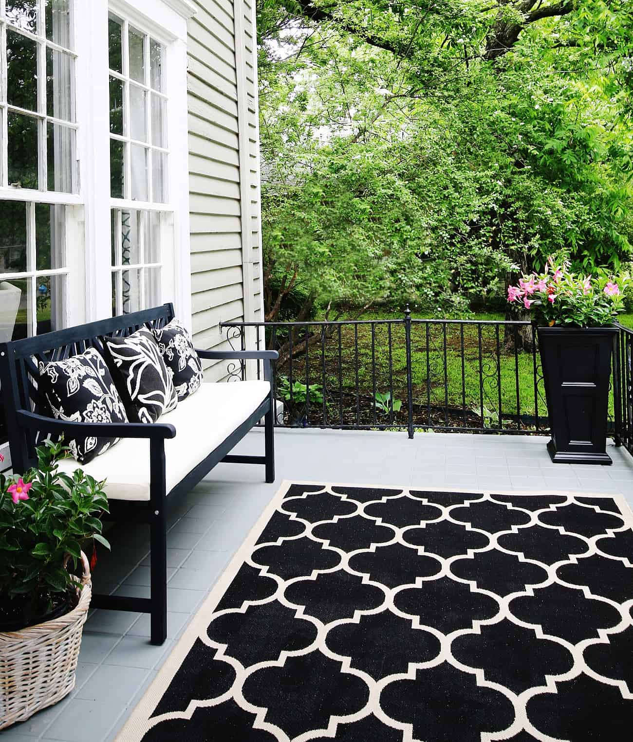 tips for keeping a rug in place porch