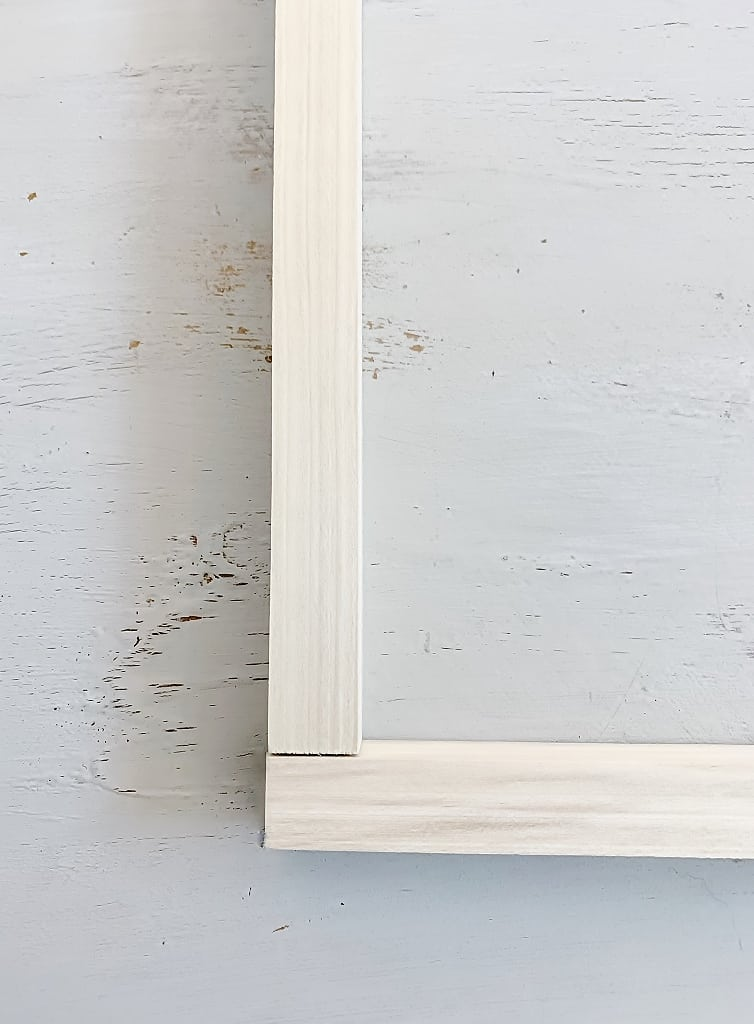 "how to frame a canvas 1"" x 1"" boards"