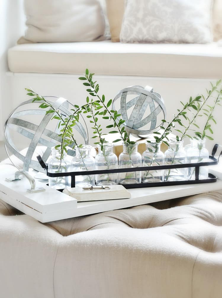 rustic farmhouse how to decorate a coffee table