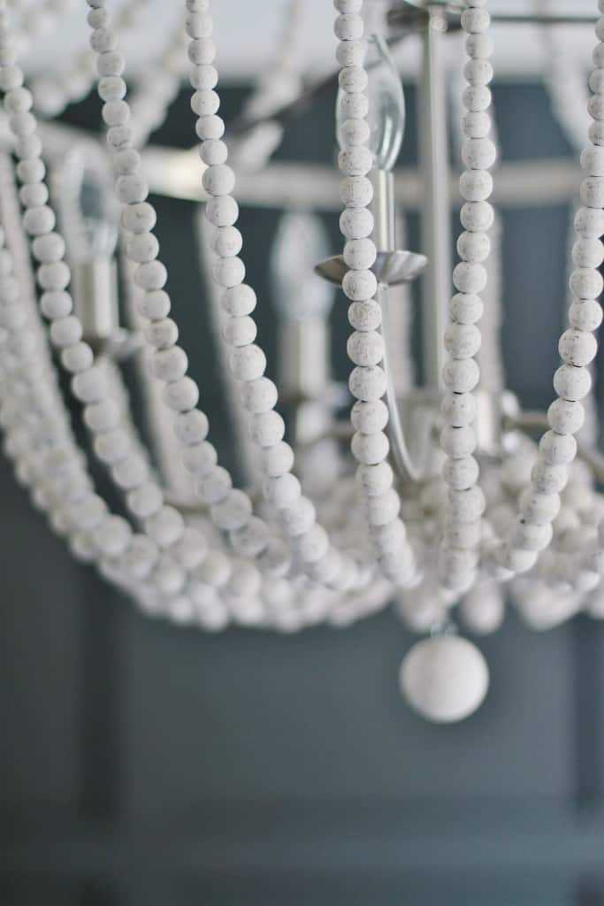 close up view of chandelier