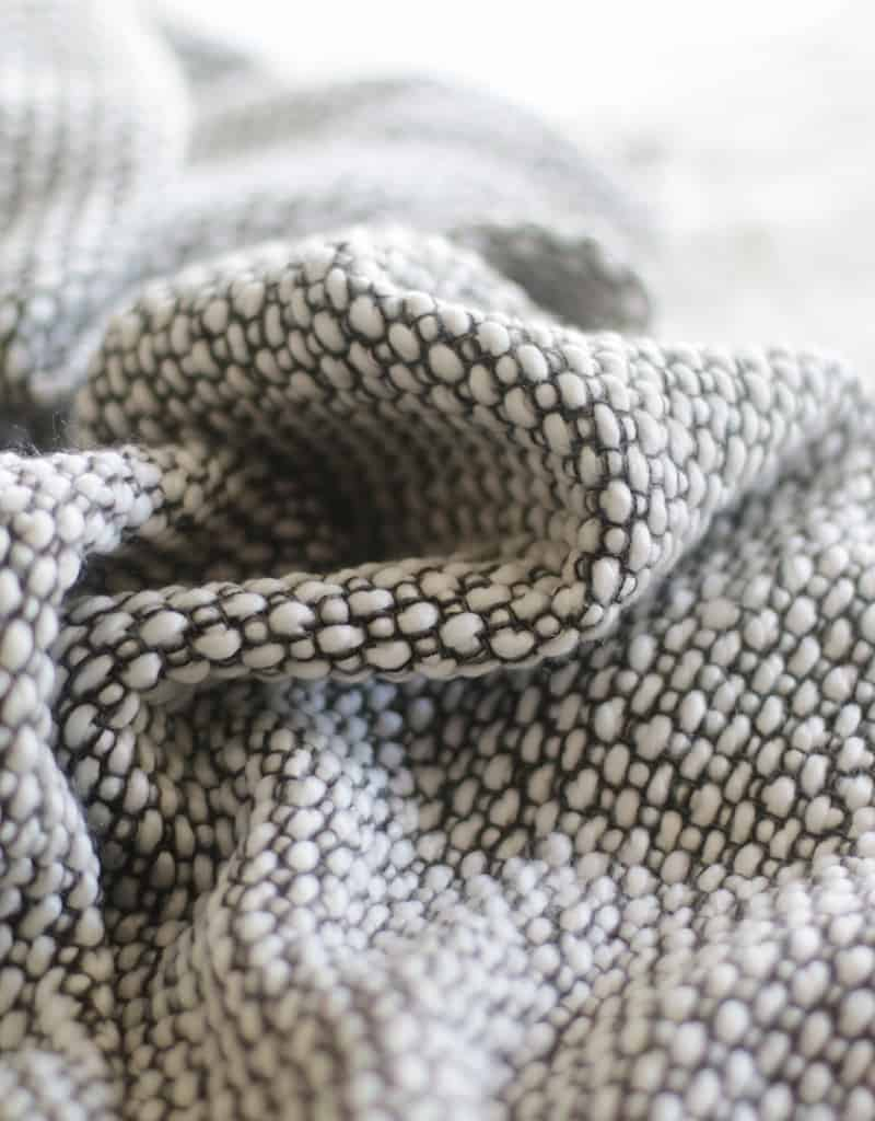 close up view of fabric