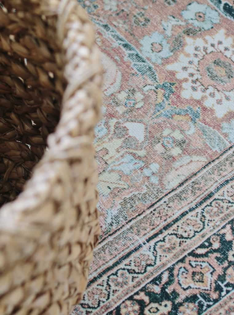 close up view of rug
