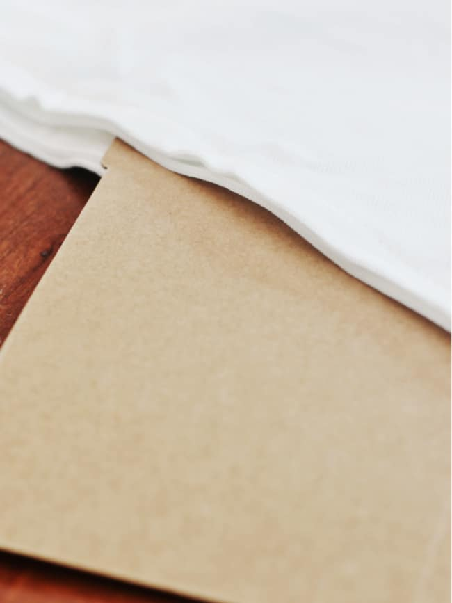 simple fall craft insert cardboard into pillow