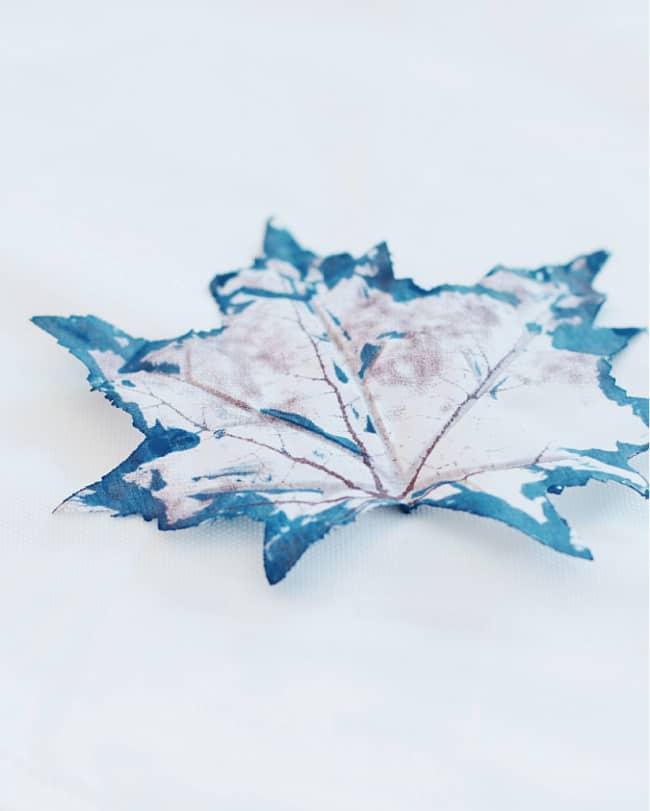 simple fall craft painted leaf