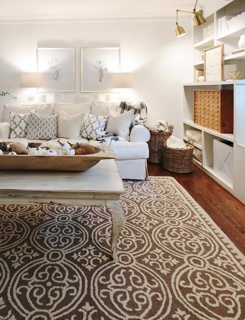 living room fall decor ideas side of room